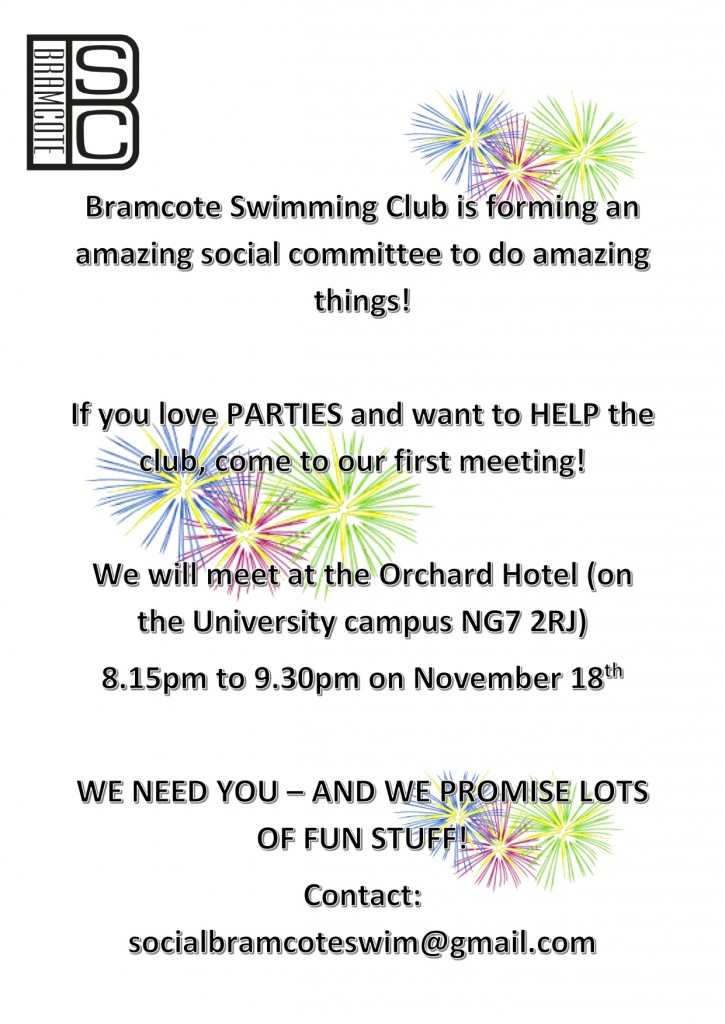 Social committee poster