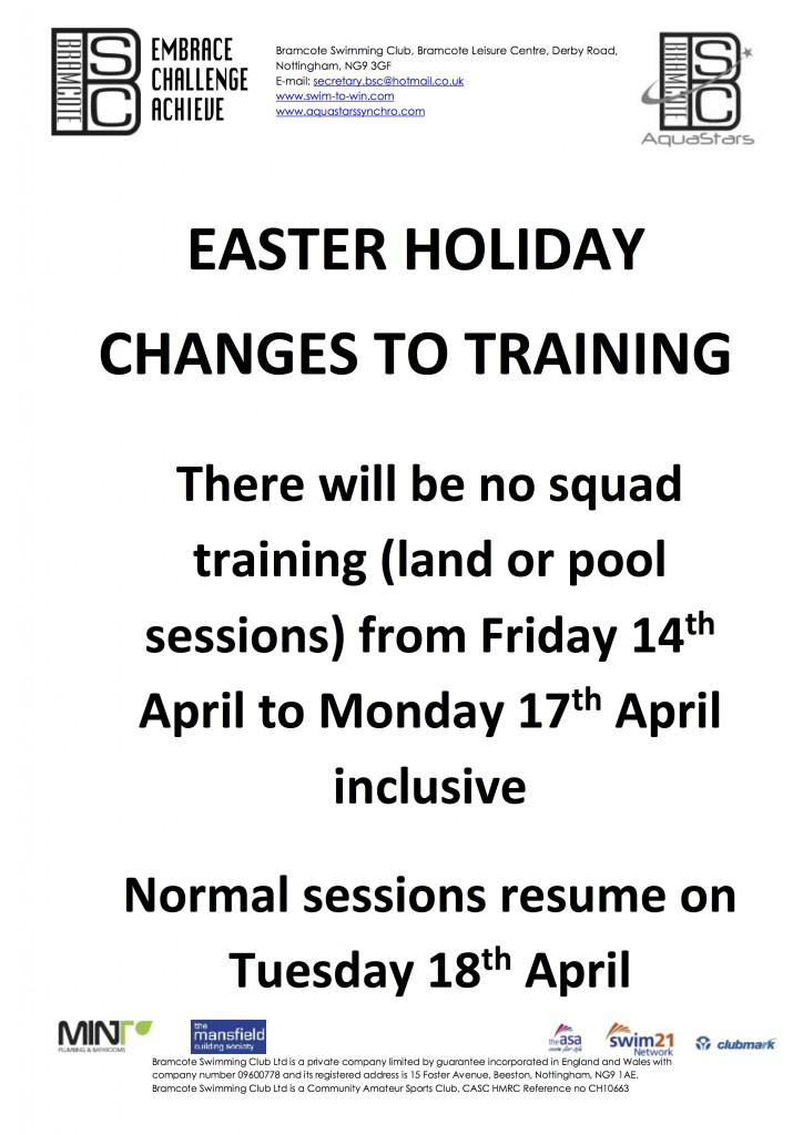 Easter holiday closures Apr17